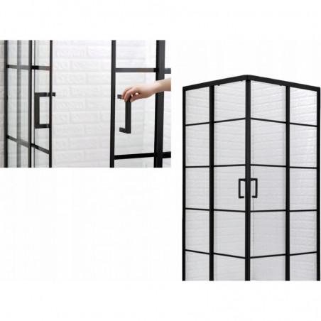 Kabina prysznicowa 90x90 czarna brodzik syfon 185