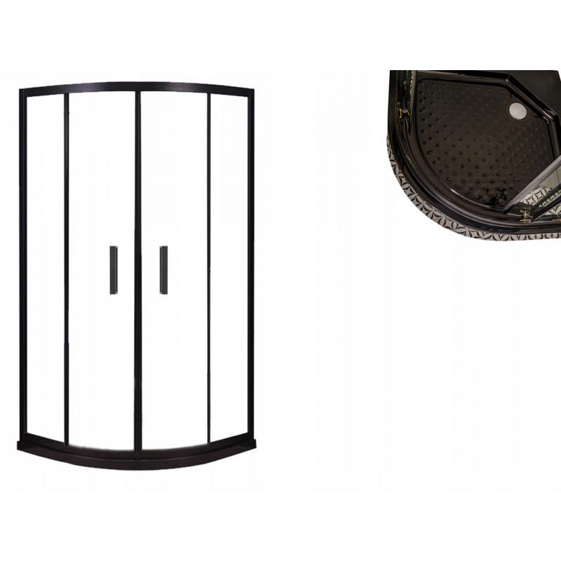Kabina prysznicowa BLACK LOFT industrial czarna 90