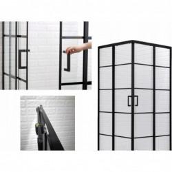 Kabina prysznicowa 80x80 czarna 198 szkło hartowane