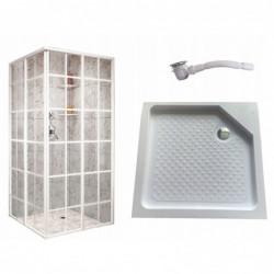 Kabina prysznicowa 80x80 biała 198 szkło hartowane francuska