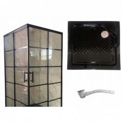 Kabina prysznicowa BLACK LOFT industrial czarna 100