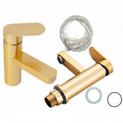 Bateria do łazienki złoty kran 16 na umywalkę aluminium